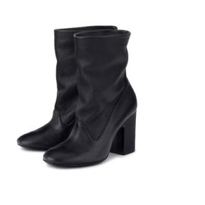 AGL Black Leather Low Boot
